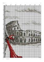 "ru / mollimy - Альбом ""A Roma. Cross Stitch, Gallery, Paris, Cross Stitch Pictures, Rome, Punto De Cruz, Dots, Dressmaking, Manualidades"