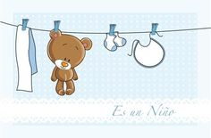 Imprimibles gratis para Baby Shower de ositos The Babys, Baby Shower Niño, Baby Showers, Panda, Snoopy, Comics, Fun, Scrapbooking, Shower Ideas