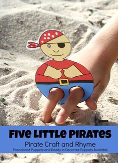 Five Little Pirates Pirate Craft and Printable