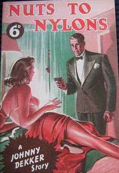 """""""Nuts To Nylons"""" ~ ca. 1940s Yeah, if you rub them against nylons """"things"""" happen."""