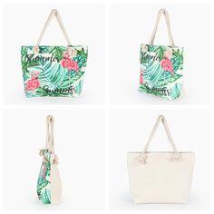 for Womens Hexagon Multi style straw leather handbag Best Beach Bag, Summer Beach, Summer Fun, Womens Beach Bag, Oversized Beach Bags, Flamingo Print, Beach Tote Bags, Printed Bags, Casual Bags