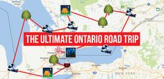 This Map Will Take You On The Most Epic Road Trip Through Ontario Anyone's Ever Been On - - Cancel all your plans, you have new ones. Rv Travel, Canada Travel, Outdoor Travel, Travel Destinations, Road Trip Canada, Travel Gadgets, Travel List, Travel Hacks, Travel Ideas