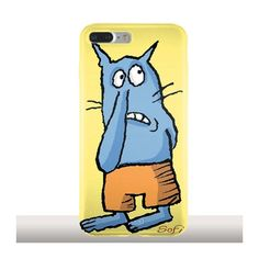 Chat Bleu, Coque iPhone 7 Plus en silicone - Sophie Rehout - Kinghousse.fr #iphonecase #phonecases #iphone7pluscase #funny #cat #blue #yellow