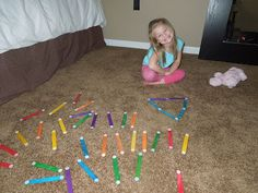Use popsicle sticks and velcro for a fun kid activity