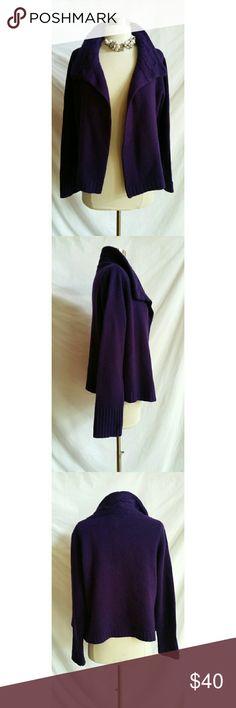 Ralph Lauren Size M Purple Cardigan Sweater Open cardigan.  Wool/angora rabbit hair.  Hand wash.  Timeless piece! Ralph Lauren Sweaters Cardigans