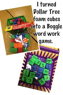Make a Boggle word work game for less than $1......this link takes you to easy and clever idea for notebook set up