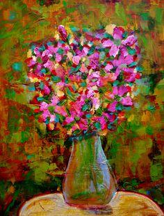 """Pink Bouquet"" sold. Artist Rebecca Rousseau"