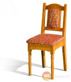 Židle Monika je vyrobena z masivu olše, který je možné namořit na mnoho odstínů. Potah opěradla a sedáku lze čalounit látkou či ekokůží v mnoha variantách.