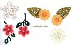 Flores crochet patron