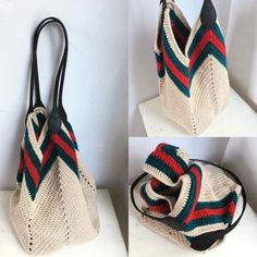 DIY: 12 Ideias de bolsa de crochê #1 Crochet Bag Tutorials, Crochet Diy, Crochet World, Crochet Clutch, Crochet Handbags, Crochet Purses, Crochet Stitches, Crochet Patterns, Crochet Shoulder Bags