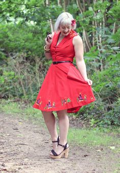 Pin Up Embroidered Mexican Summer Dress from Love Ur Look