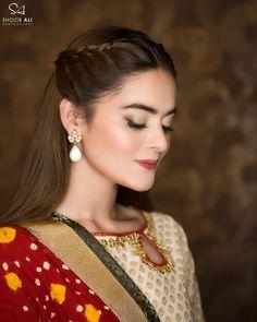 17 Ideas Nature Look Makeup Asian Indian Bridal Makeup, Wedding Makeup, Bridal Hair, Open Hairstyles, Braided Hairstyles, Mehndi Hairstyles, Lehenga Hairstyles, Ethnic Hairstyles, Pakistani Makeup Looks