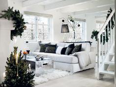Decoración de salón navideña en color negro
