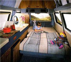 VW T25 Holdsworth Villa  Rear Bed
