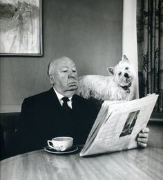 Alfred Hitchcock by Philippe Halsman via cupofjo #Photography