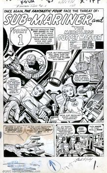 Original Comic Art:Splash Pages, Jack Kirby - Original Art for Fantastic Four #14, page 1 (Marvel,1963). A fantastic splash page for one of the most popular...
