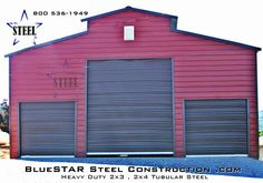 tractor barn - metal barns - low cost steel buildings - call for a quote Steel Barns, Steel Fabrication, Metal Barn, Iron Steel, Building Systems, Construction Design, Tubular Steel, Steel Buildings, Tractor