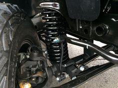 front suspension with 4 inch lift Wrangler Unlimited Sport, 2016 Jeep Wrangler, Pro Comp, Bar Led, Chrysler Dodge Jeep, Led Flood Lights, Fender Flares, Led Light Bars, Alloy Wheel