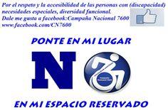 Ponte en mi lugar www.facebook.com/CN7600