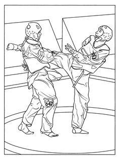 karate coloring pages for kids  TaeKwonDo  Pinterest  Kid