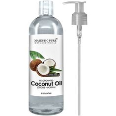 Amazon.com : Majestic Pure Fractionated Coconut Oil, 16 fl. oz. For... (€17) ❤ liked on Polyvore featuring beauty products