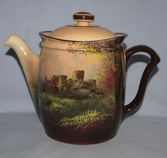 Royal Doulton Castle and Churches 'Pembroke Castle' Westcott teapot D4643 - Royal Doulton Seriesware