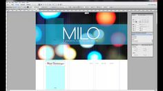 "How to modify the ""Milo"" Navigation Bar for Adobe Muse. #adobemuse"