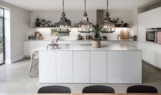 white modern meets farmhouse design