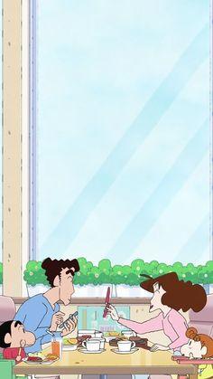 Sinchan Wallpaper, Snoopy Wallpaper, Cartoon Wallpaper Iphone, Kawaii Wallpaper, Cute Cartoon Wallpapers, Disney Wallpaper, Sinchan Cartoon, Crayon Shin Chan, Anime Scenery