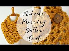 Fiber Flux: Free Crochet Pattern...Autumn Morning Button Cowl!
