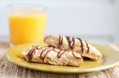 Banana Nutella Scones