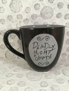 Nightmare Before Christmas Mug, Sally's Jars Insipred Mug by HandPaintedNerd on Etsy https://www.etsy.com/listing/465443812/nightmare-before-christmas-mug-sallys
