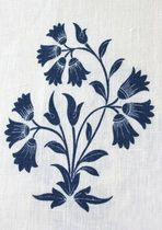 Floral pattern fabric / linen