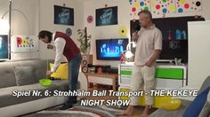 Spiel Nr. 6: Strohhalm Ball Transport - THE KEKEYE NIGHT SHOW #kekeye #kekeyespiele #kekeyetalente #wien #vienna Night Show, Vienna, Transportation, Games