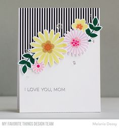Stamps: Bold Blossoms, All About Mom  Die-namics: Bold Blossoms    Melania Deasy  #mftstamps