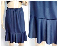 4 Colors: flounce Navy slip extender skirt by DressandCharm