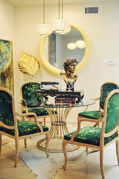 Atlantis Home-I love Judys' taste, always such an inspiration!! Vintage, uber glam, yet modern.
