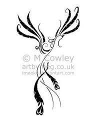 Resultado de imagen para imagenes de ave fenix para tatuajes para mujeres
