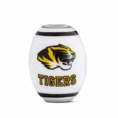 Missouri Collegiate Milk Glass Cornerstone Bead