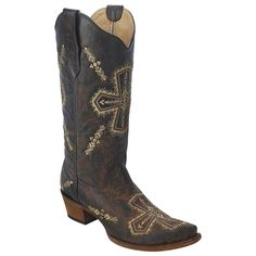 New Circle G By Corral Women's Cross Embroid Western Boot Brn Crackle/Bone 6.5 * Be sure to check out this awesome product.