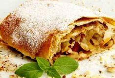 Apple strudel with walnuts Pie Recipes, Baby Food Recipes, Cooking Recipes, Ukrainian Recipes, Russian Recipes, Bon Appetit, Russian Pastries, Bolet, Bun Recipe