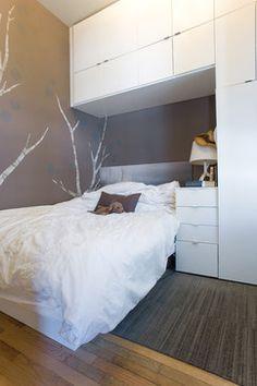 storage, bedroom, ikea cabinetry