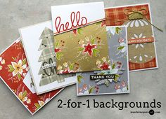 4 WAYS: 2-FOR-1 BACKGROUNDS, Stamped Background Video by Jennifer McGuire Ink