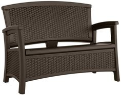 Combining extra seating with extra storage space, the Suncast ELEMENTS Loveseat is an ideal addition to outdoor patio furniture sets. Constructed from durable, all weather resin for strength and stability, the extra large seat easily seats two with r Patio Storage, Seat Storage, Bench With Storage, Outdoor Storage, Extra Storage, Storage Benches, Storage Sheds, Outdoor Loveseat, Outdoor Cushions
