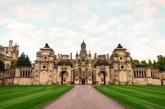 Harlaxton Manor, built in 1837, is a manor house located in Harlaxton, Lincolnshire, England.