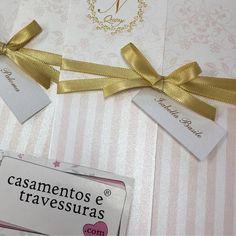 Simples e delicados os tags são uma ótima opção para os nomes dos convidados! casamentosetravessuras.com - Lembrancinhas de Casamento Convites Aniversário 15 anos Formatura etc.