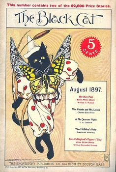 """The Black Cat"" magazine - August 1897 - Cover by Nelly Littlehale Umbstaetter"