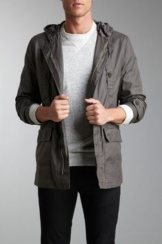 Kenneth Cole Reaction Hooded Jacket
