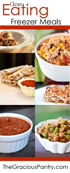 40 Clean Eating Freezer Meals #cleaneating