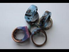Fantasy Jewelry, Jewelry Art, Shibori, Secret Wood Rings, Resin Jewelry Making, Resin Jewellery, Jewellery Making, Ring Tutorial, Resin Ring